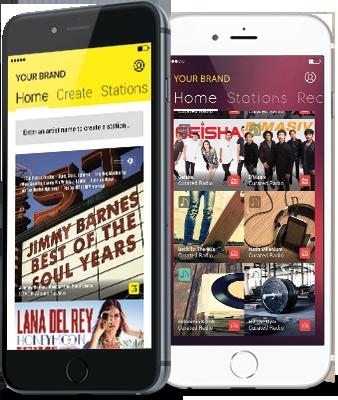 mobile engagement music app
